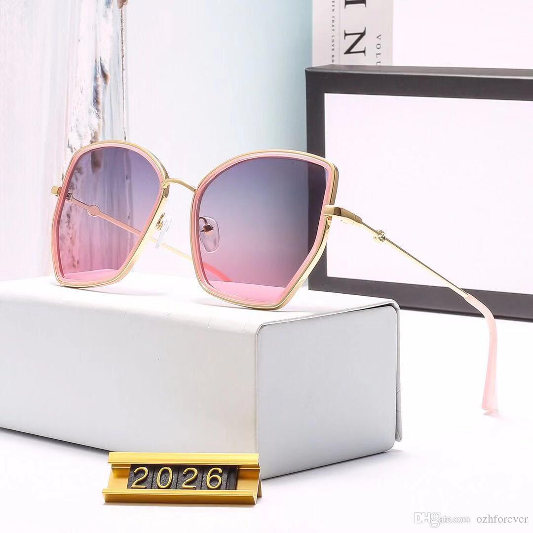 cc29634f25 gucci GG2026 Spedizione gratuita - Occhiali da sole da uomo firmati da  donna di alta qualità con montatura in metallo e lenti uv400 occhiali moda  ...