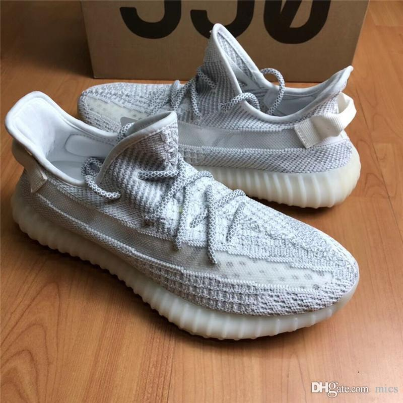 a6ca03300a8 2019 High Originals 350 V2 Static Refective White Grey Light Running Shoes  Mens Sneakers EF2367 Full Reflection Authentic Sports With Box