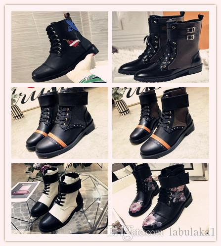 heel high heels shoes luxur women shoes Designer leather short boots anti-skid Martin boots fashion Luxurious Female boots size 34-40