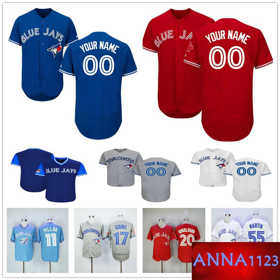 size 40 5d641 8d331 Custom Toronto #41 Aaron Sanchez 3 Brandon Drury 25 Marco Estrada 23 Dalton  Pompey Blue Jays Men Women Kids Youth Baseball Jerseys