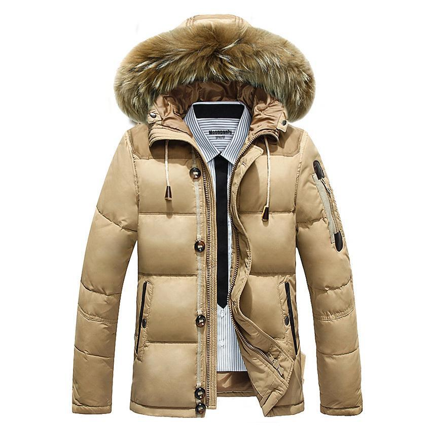 Großhandel Daunenparka Herren Winterjacken Warme Outwear Pelz Mit Kapuze  Mäntel Casual Herren Winter Parka Warmen Mantel Ente Daunenjacken Mäntel  Von Maoken ... b12308ae4f