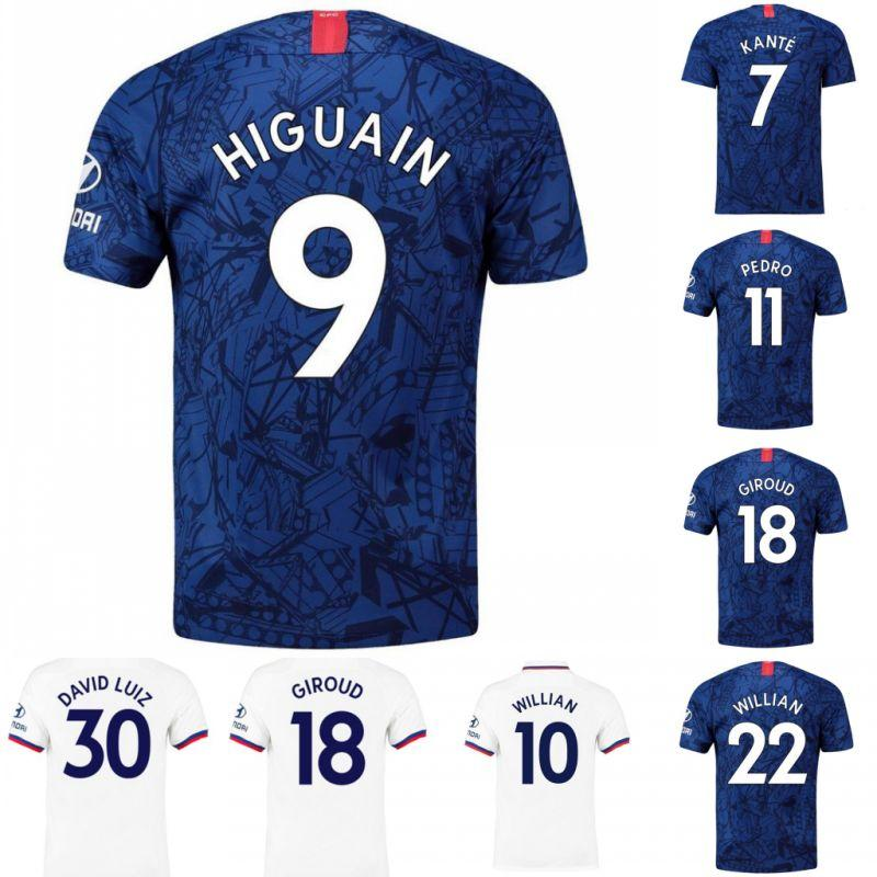 Mejor calidad KANTE LAMPARD ODOI JORGINHO PULISIC CHEEK camisetas de fútbol 2019 2020 GIROUD Camiseta de football kits shirt 19 20 maillot de foot