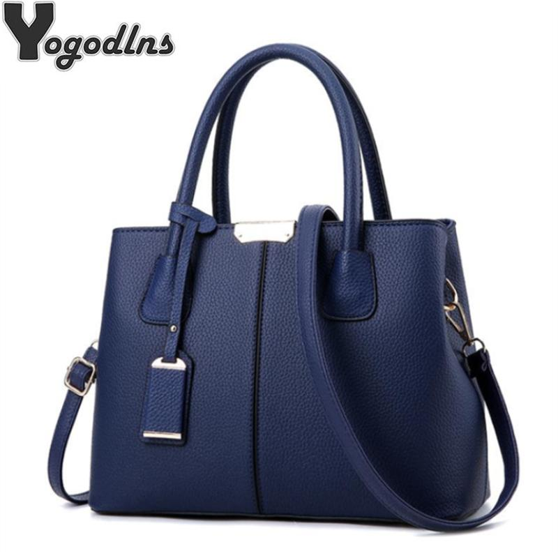 Women PU Leather Handbags Ladies Large Tote Bag Female Square ... ee099debb9c0