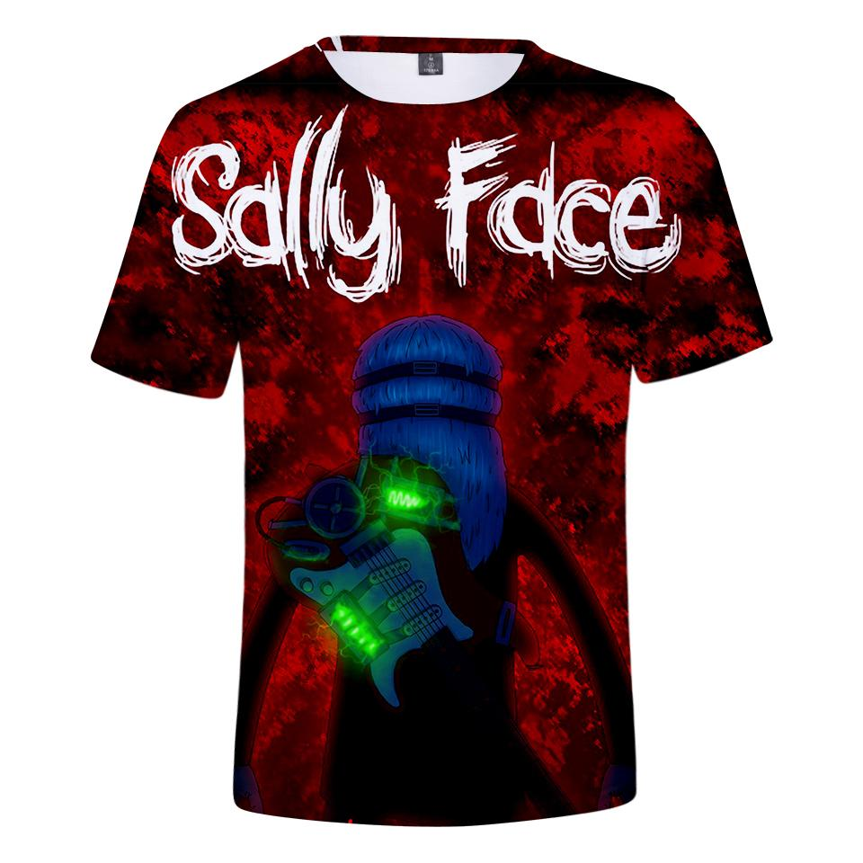 5d93874b51d Frdun Sally Face 3D Printed Short Sleeve T Shirt Cool 2019 Summer Cool  Fashion Harajuku New Arrive Casual Shirt Plus Size It Tee Shirts As T Shirt  From ...