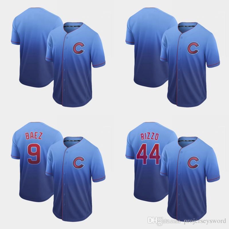 607841614 Compre Mens Fade Chicago 9 Javier Baez 17 Kris Bryant 44 Anthony Rizzo 12  Kyle Schwarber 22 Jason Heyward 40 Willson Contreras Cubs Béisbol Jersey A   24.88 ...