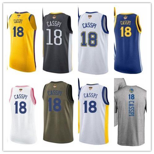 buy popular 22d11 6e60e custom best 2018 Basketball Wear Men's Golden State Warrior#18 Omri Casspi  Yellow Jersey - City Edition Basketball Jerseys
