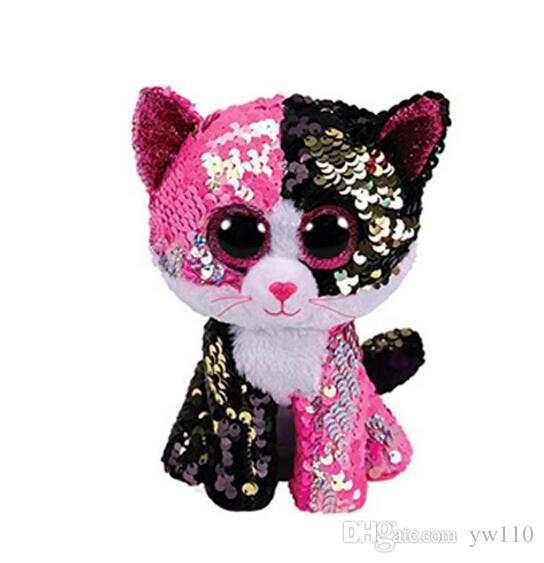 2019 15CM Hot Sale Ty Beanie Boos Big Eyes White Sequin Unicorn Lola Dog  Lion Bat Alpaca Plush Toy Doll Stuffed Animal Plush Kid Toy From Yw110 a5ff2a99dd9