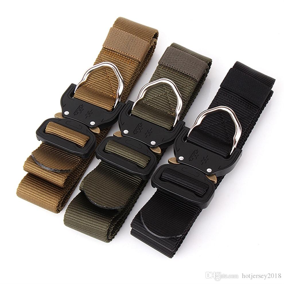 860c8eca5ba 2019 Lixada Nylon Military Tactical Belts With Metal Buckle Adjustable Men  Tactical Belt Heavy Duty Waist Belt Support Accessories  72381 From  Hotjersey2018 ...