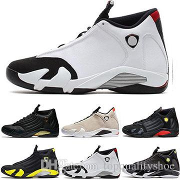 2019 Men Designer 14 14s The Last Shot Basketball Schuhe Desert Sand Schwarz Toe Rot Wildleder Donner Herren Sport Trainer Sneakers Größe 7 13