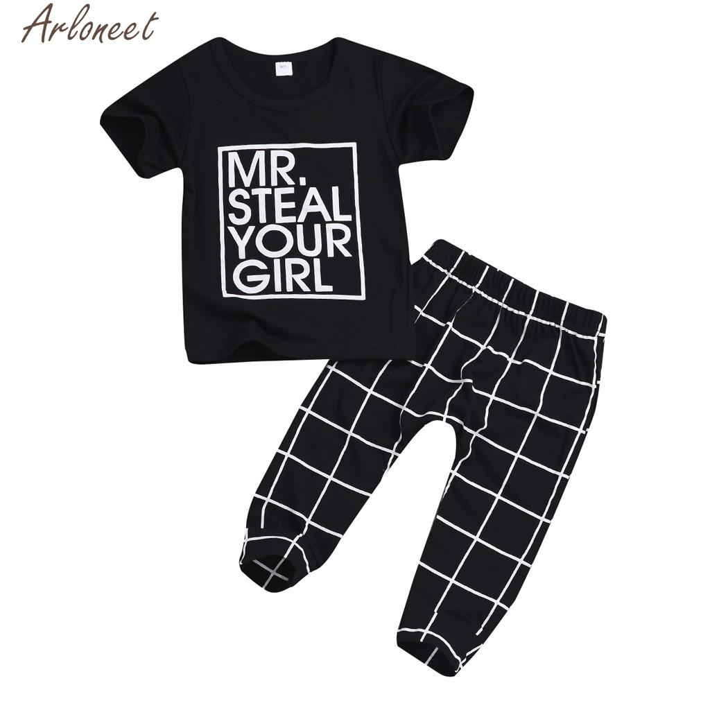 2018 Arloneet Toddler Baby Boys Girl Outfits Valentine S Day Letter