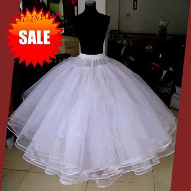 Best Sell Bianco 3 strati Accessori da sposa per abito da sposa Abito in tulle Gonna Abito da ballo Sottoveste Gonna n