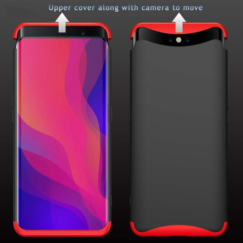 online store 65fde 35fb2 Case for OPPO Find X 360 Full Protection 3 IN 1 Magnetic Design Anti-shock  Hard PC Cover Plain for Oppo Find X fundas shell