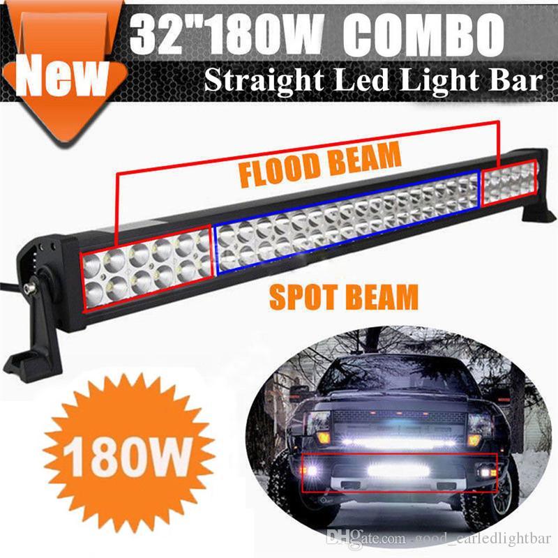 "32/"" 180W LED Light Bar Spot Flood Combo Work Lamp 4x4WD Boat UTE Driving ATV Car"