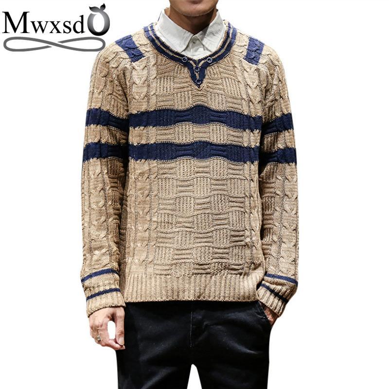 Mwxsd Winter Mens Pullover Sweaters Men V Neck Cashmere Sweater ... b8eb5ec4c4cd
