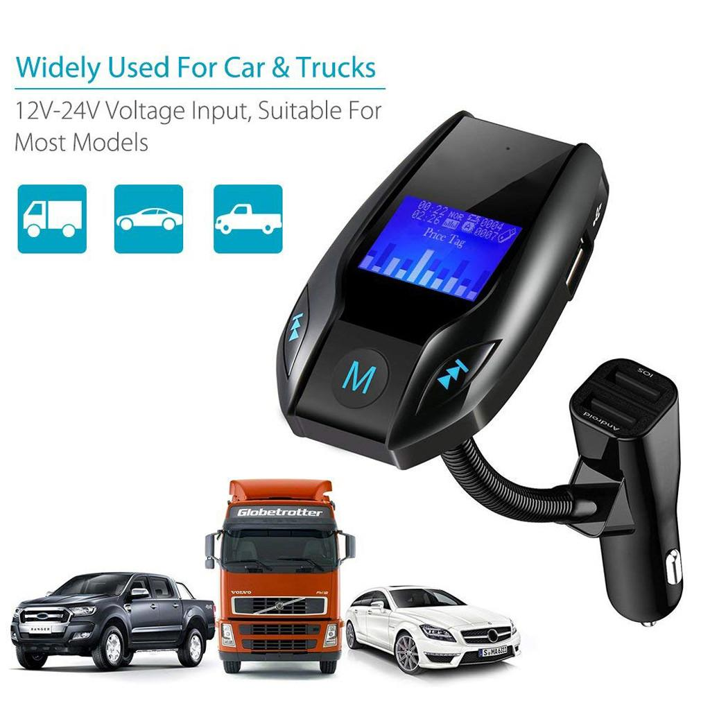 Car Kit Hands free Wireless Bluetooth Car FM Transmitter MP3 Player Hands Free Radio Adapter Kit USB Charger Styling