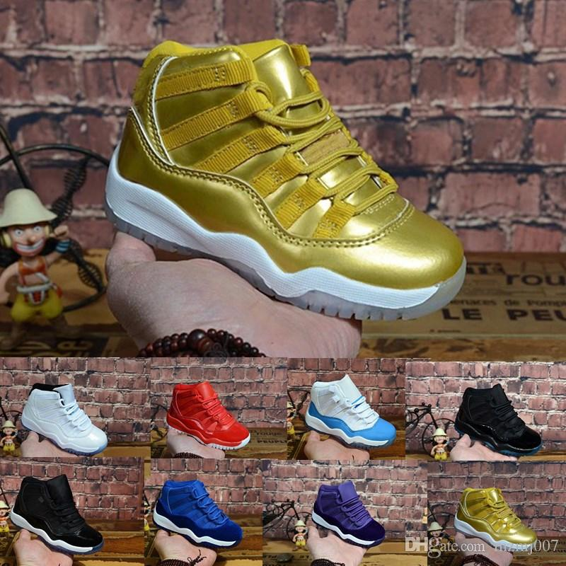 Retro kids 11s basketball shoes for sale high quality j11 Space Jame Heiress Velvet Boys Girls Youth Kids Jumpman 11 XI sneakers