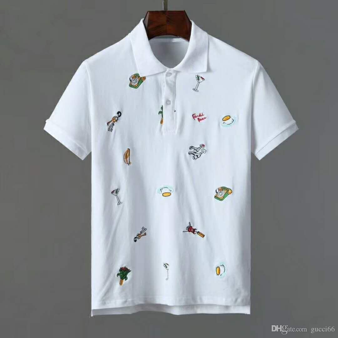 Compre 2019 Hombres De La Moda Camisas De Polo Lindos Ojos Bordado Para Hombre  Polos Camisetas Tops Ropa De Calle De Diseñador Casual Polo A  26.6 Del ... 3f807b459a899