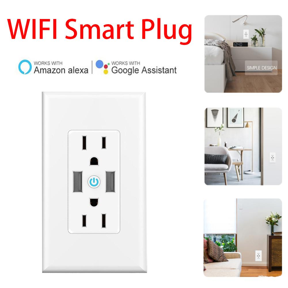 Smart Home Smart Switch Plug APP Phone control Outlets Socket Independently  Controllable , Works with Alexa Dot Echo Plus Google
