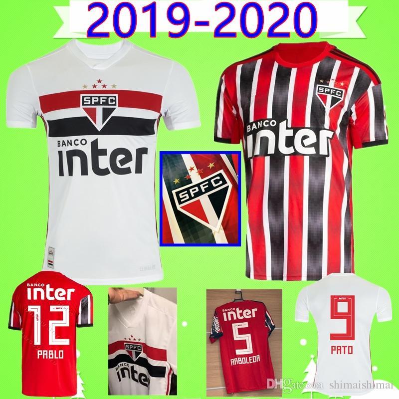 best football kits 2020-19 2019 2020 Sao Paulo #12 PABLO Brazil Soccer Jerseys Thai Quality