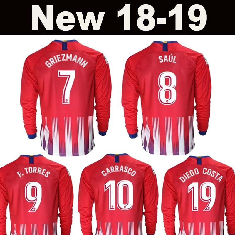2c3e1a41c95 New2018 2019 Madrid Atletico Long Sleeve Soccer Jersey 18 19 Thai ...