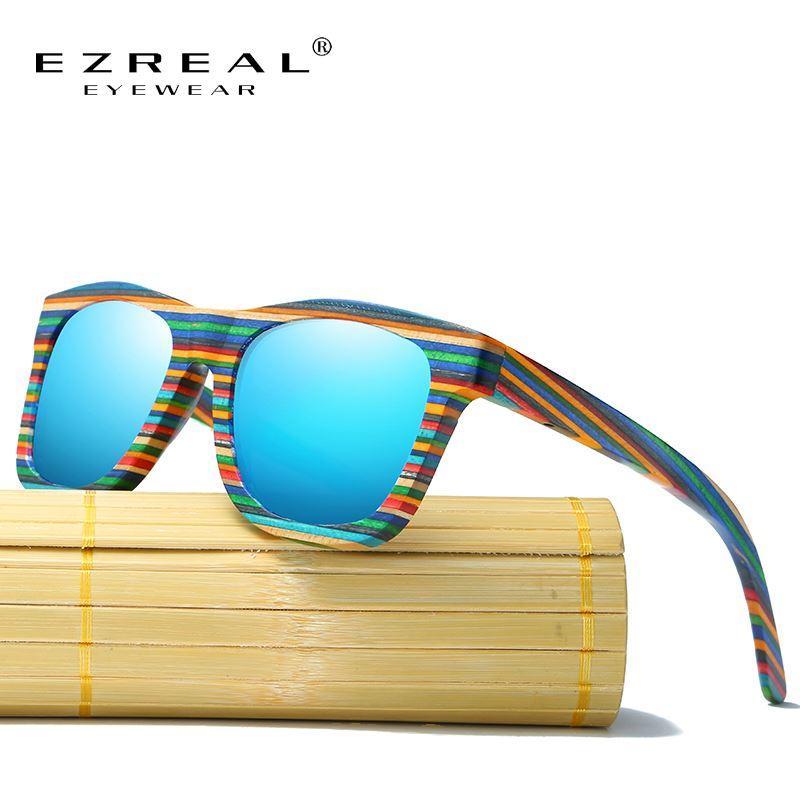 f36bf6b5ec89f Compre Dhgate Óculos De Sol De Madeira Polarizada Homens De Bambu Óculos De  Sol Das Mulheres Designer De Marca Originais Óculos De Madeira Oculos De Sol  ...