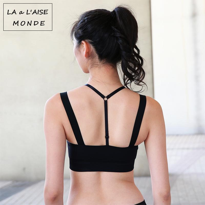 f151271c7a791 2019 Womens Adjustable Sports Bra Tops 2 In 1 Sport Crop Top Active Wear  For Women Push Up Workout Gym Yoga Bras Fitness Activewear From Ahaheng