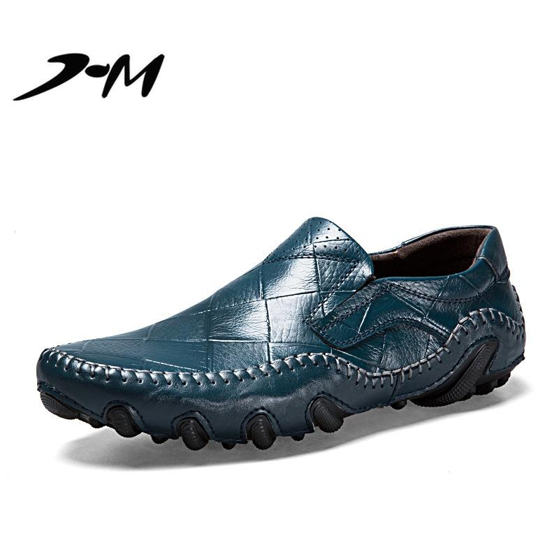 9698850674e8c2 Big Size Summer 2018 Bean Shoes Men S Shoes Soft Bottom Men S Business  Casual Leather British Fashion