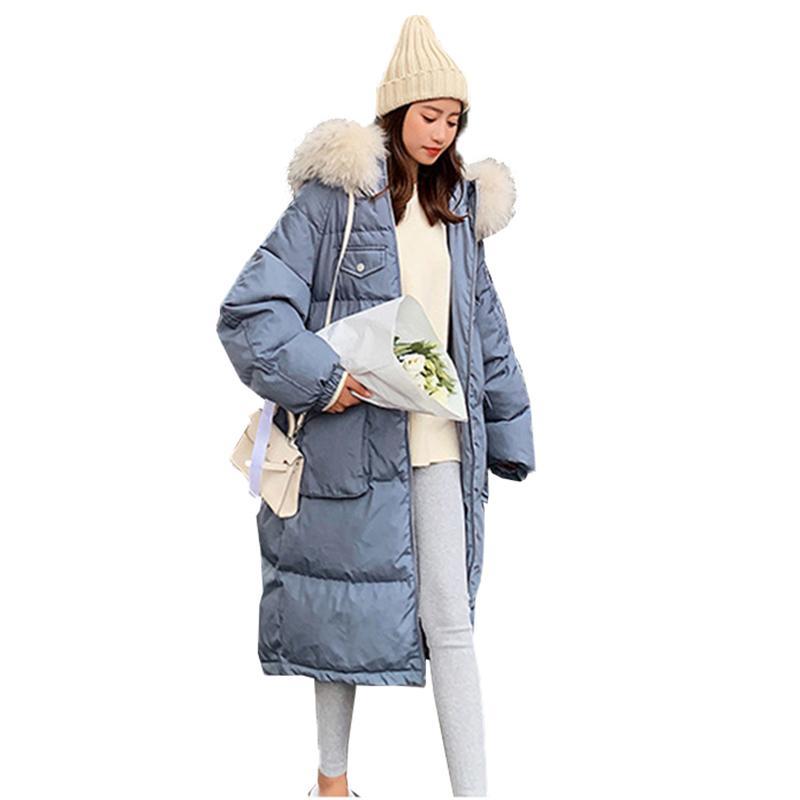 Femmes Long Col Pour Sweat Capuche Chaud Parkas De Plus À Taille Fourrure Coton Hiver Outwear La Épais Grand Veste Femme Manteau j4A5qL3R