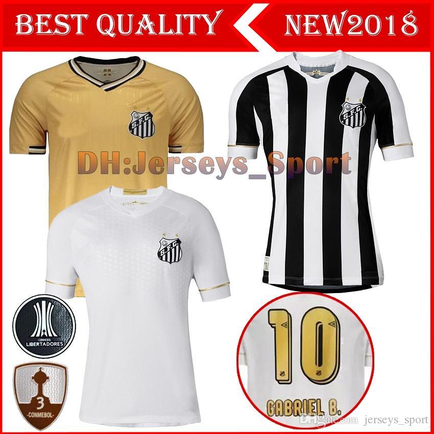 Compre 2018 2019 Santos FC Camisa De Futebol 18 19 Santos Em Casa De  Distância Gabriel RODRYGO DODO RENATO SASHA Camisas De Futebol De  Jerseys sport 241d5c54e8c16