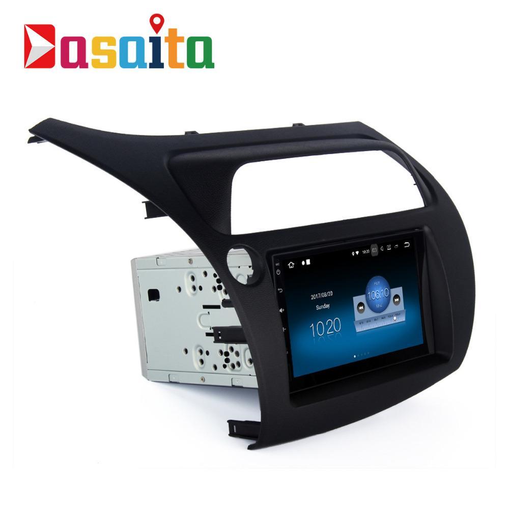 Dasaita 7 Android 8 1 Car GPS Player Navi for Honda Civic Hatchback  2006-2011 with 2G 16G Quad Core Stereo Autoradio Video