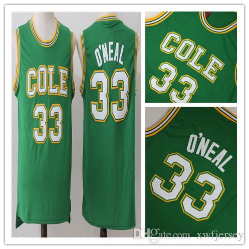 e7003bcf359 2019 Wholesale Shaq Basketball Jerseys 33 O NEAL COLE High School Basketball  Jersey Full Stitched Top Quality S 2XL From Xwfjersey