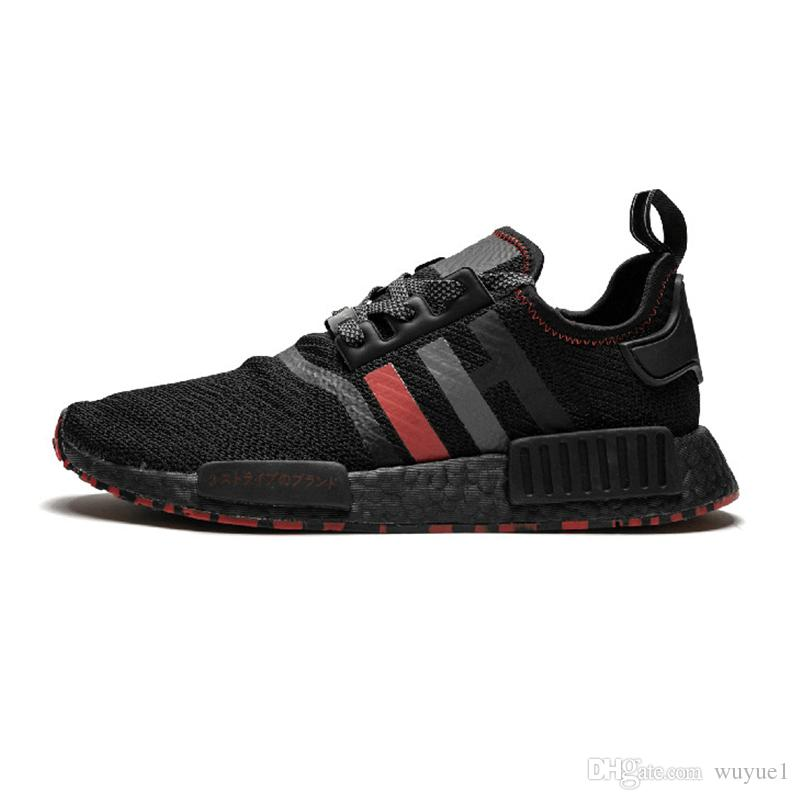 2019 NMD R1 Primeknit Japan Triple Black white red OG pink men women Outdoor Shoes runner breathable sports shoe trainer fashion sneakers 11