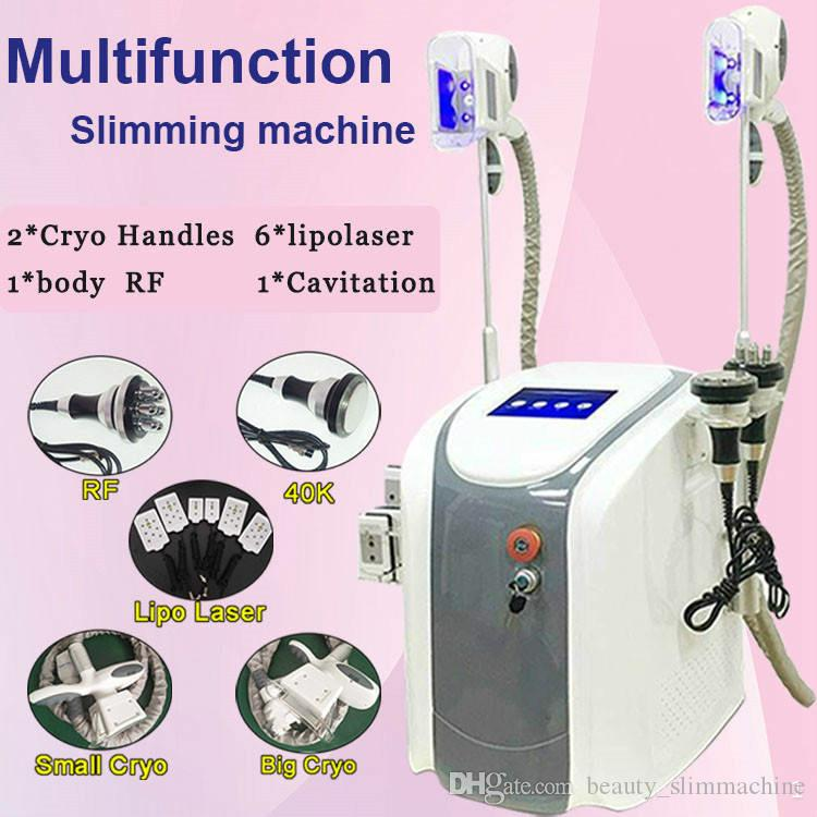 Portable 4 in 1 aesthetic fat freezing fast fat removal best lipo laser  machine 2 cryo handles