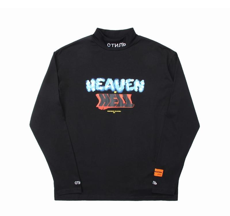 Heron Preston Hoodie Hip Hop Crane Printed Sweatshirts Black Men Women Streetwear Heron Preston Designer Hoodies