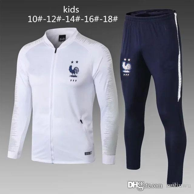 Compre AAA + Psg Kids Real Madrid Chandal Futbol Juventus Niños Marseille  Frances 18 19 Mbappe Soccer Chándal Traje De Entrenamiento Para Trotar A   29.83 ... a784ab5e7820c
