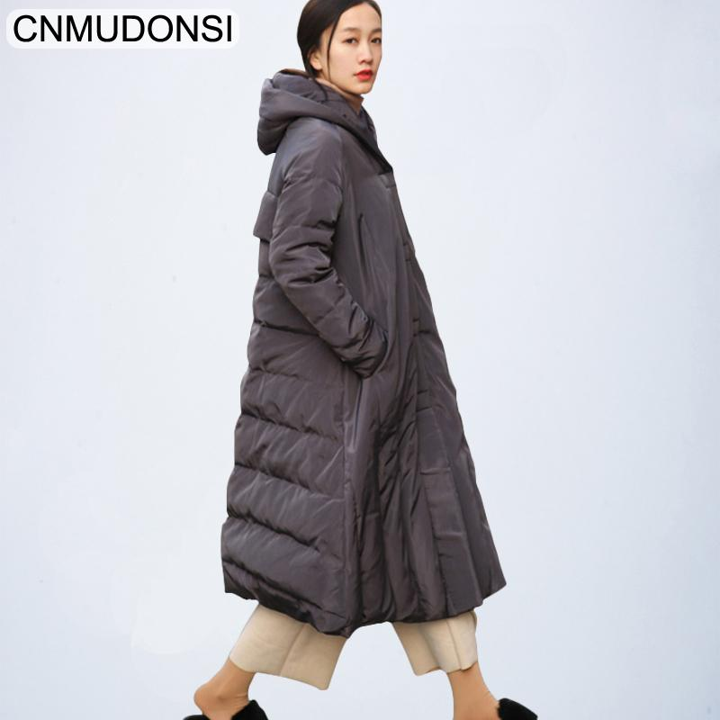a2a62963fe5f3 2019 2019 Fashion Women S Down Jacket Winter Hooded Warm Long Coat Plus  Size Female Duck Down Parkas For Women Large Clothes Overcoat From  Suspender