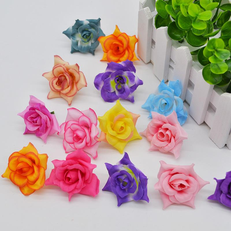 fa38a1f9f76 ilk rose heads 20 Colors 4cm Artificial Flowers Silk Roses Heads For Home  Wedding Decoration Party DIY Wreath Gift Scrapbooking Fake Flow...