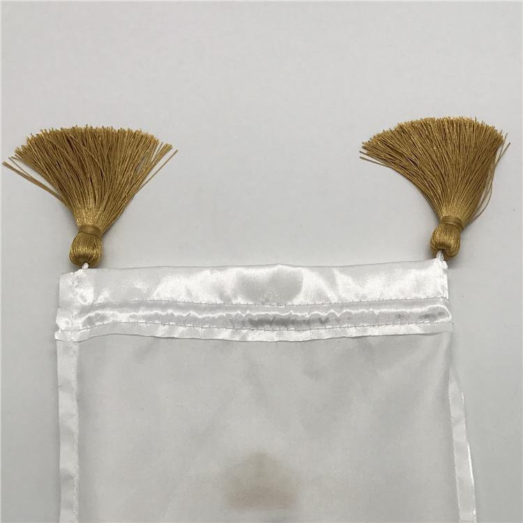 Мешок из атласной ткани на шнуровке Ювелирные изделия / Упаковка / Косметика / Подарок / Свадьба / Вечеринка / Парик / Пучки волос Sachet Tassel Custom Logo 50p