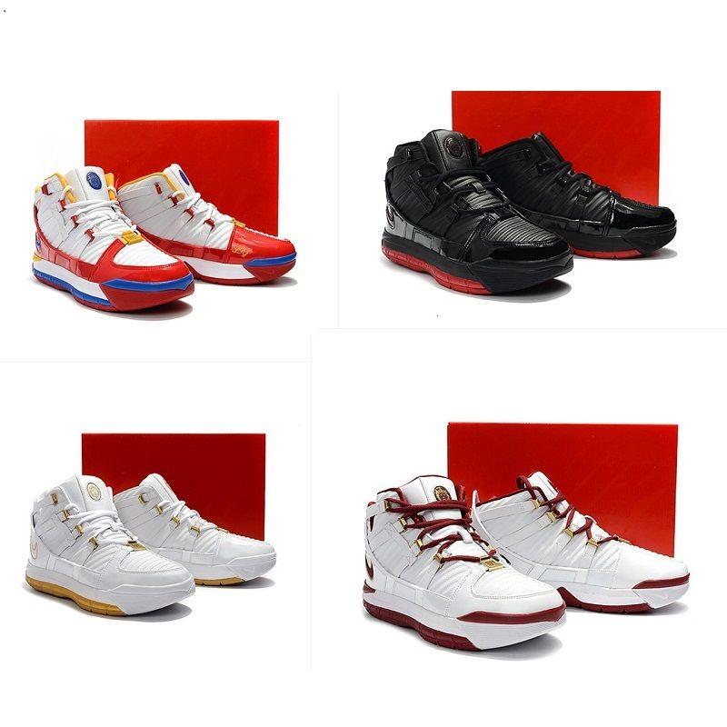 44dde8105c5a5 2019 New Mens Lebron 3 Basketball Shoes For Sale Retro MVP BHM Oreo ...