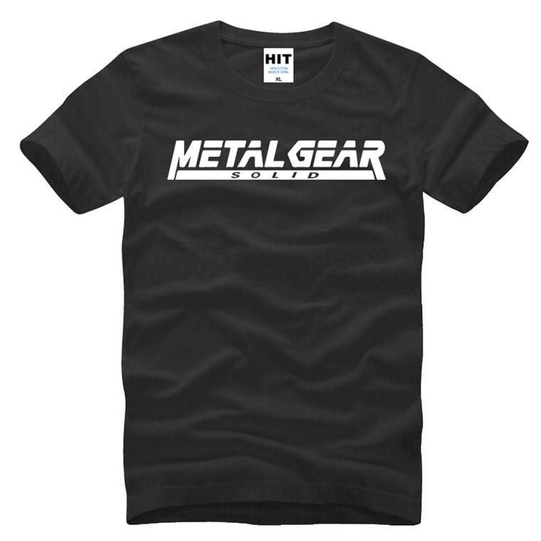 Game MGS Metal Gear Solid Letter Printed Mens Men T Shirt T-shirt 2016 New Short Sleeve Cotton Tshirt Tee Camisetas Masculina Y200104