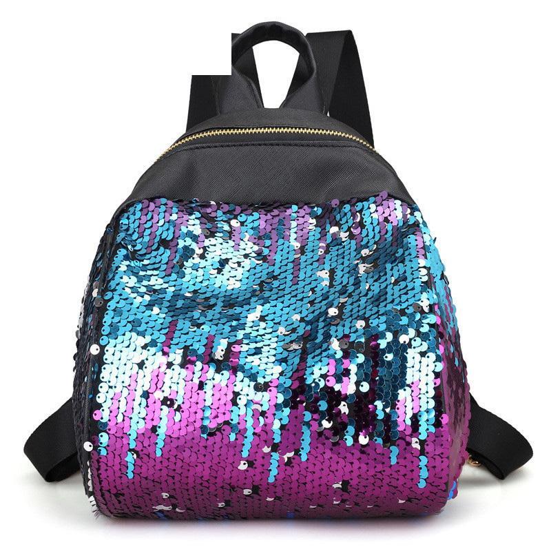 Good Quality Fahsion Pu Leather Small Backpack For Teenage Bling Sequins  Design Girls Mini Backpack Travel Shoulder Bag Dog Backpack Backpacks For  Women ... f57a1229db80e