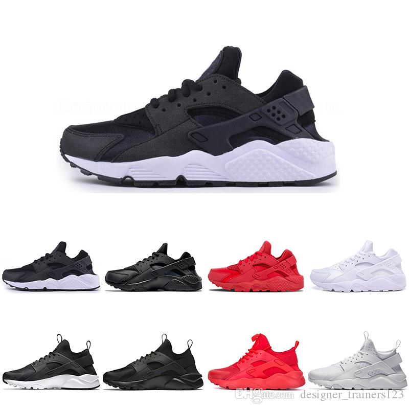 Cheap 2019 Huarache 1.0 4.0 Women Mens Running Shoes tripe Red Balck White Rose Gold Women Designer Shoes Sport Trainers Sneakers 36-45.