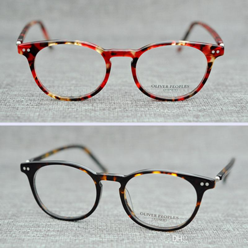 0ee236ddee8 2019 2018 Fashion Women Glasses Frame Plank Men Eyeglasses Frame Vintage  Round Clear Lens Glasses Optical Spectacle Frame Gafas De Sol JH GO54 From  ...