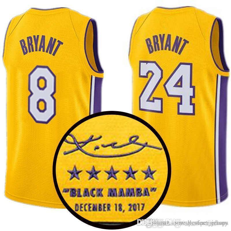 2d5fc643d81 2019 Signature 8 Kobe 24 Bryant Edition Jersey Kyle 0 Kuzma Los ...