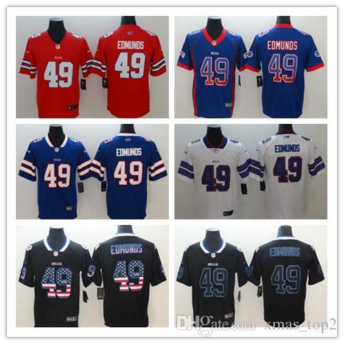 reputable site e0f93 8b0c6 New Mens 49 Tremaine Edmunds Buffalo Jersey Bills Football Jerseys 100%  Stitched Embroidery Bills Tremaine Edmunds Color Rush Football Shirt