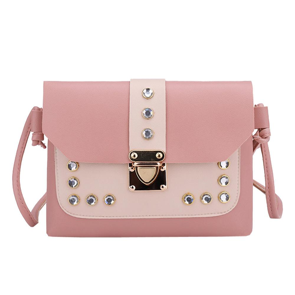 266369b7026c Cheap Xiniu Lady Handbags 2018 Women Hit Color Rhinestone Shoulder Bag  Messenger Satchel Tote Crossbody Bag Leather Bag Shoulder Bags White Handbags  Satchel ...