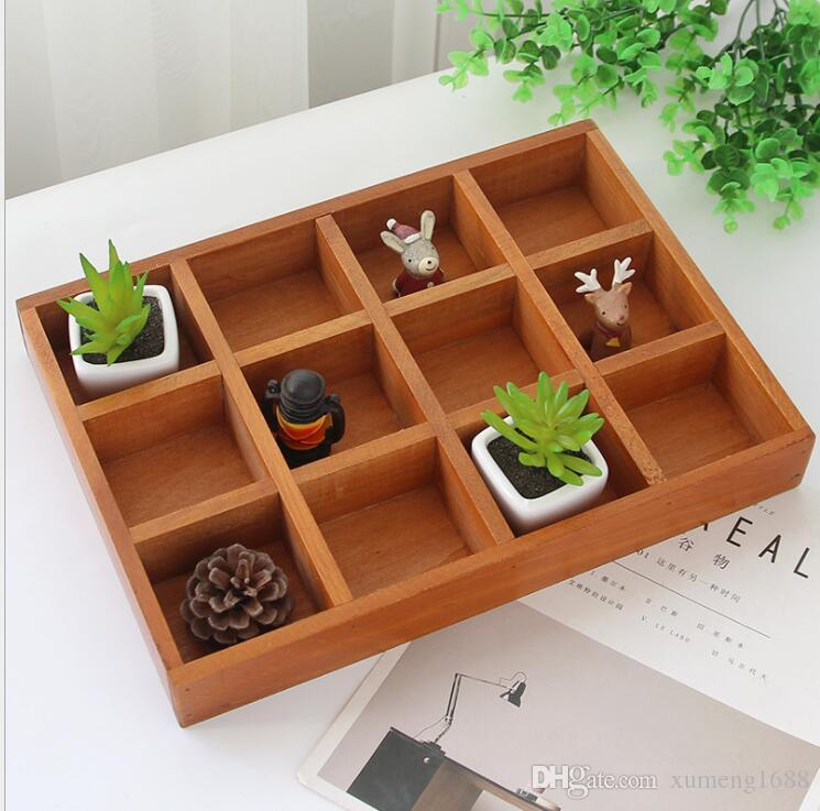 2019 Wooden Table Sundries Container Cosmetics Organizer Jewelry Storage Box Home Decor Holder From Xumeng1688 1287