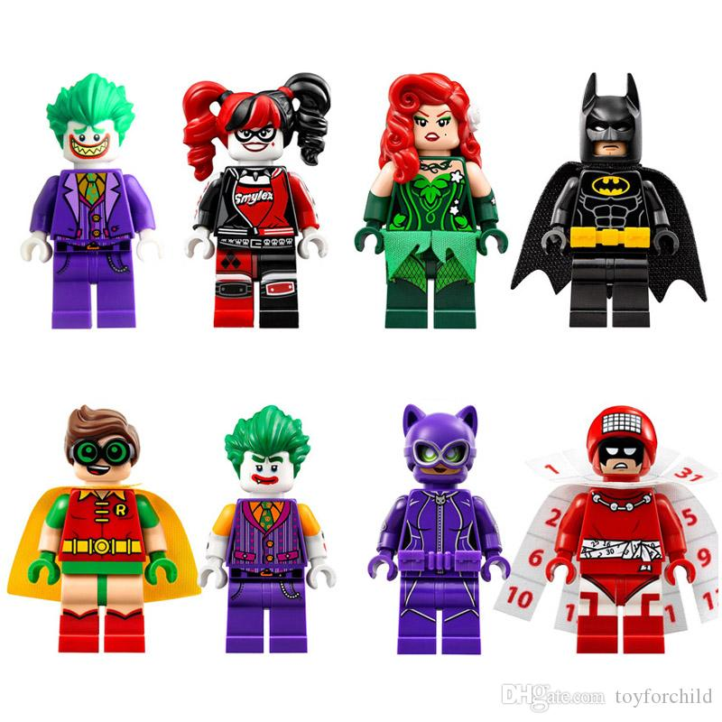 DC Super Hero Superhero Batman Harley Quinn Joker Poison Ivy Robin Catwomen Calendar Man Mini Toy Figure building blocks Model