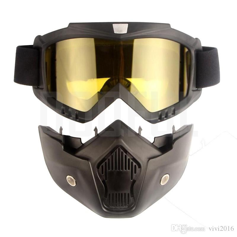 10f419793e Compre 50 Unids / Lote Gafas Protectoras Máscaras Extraíble A Prueba De  Polvo A Prueba De Polvo Protección UV Bicicleta Motocicleta Gafas Gafas  Mascarilla ...