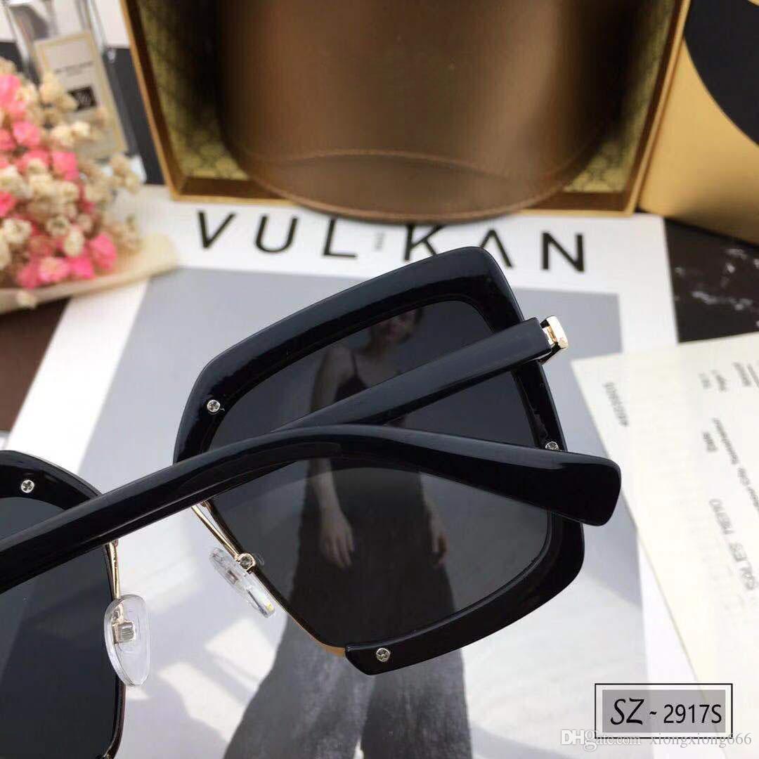c09d772260 Compre Gucci 2917 Gafas De Sol De Lujo Para Mujer Leopardo Diseñador  Extraíble Moda Oval Verano Estilo Color Mezclado Marco Lente De Protección  UV De ...